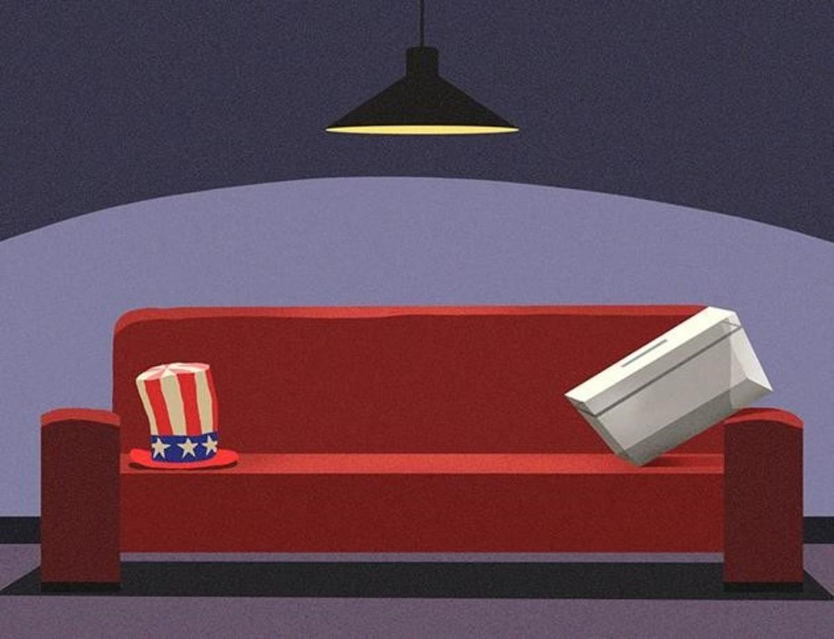 El norteamericano en el sofá
