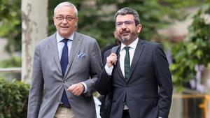 Francesc Sànchez llega a la Audiencia Nacional, este lunes.