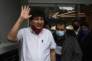 Evo Morales, expresidente de Bolivia, a su salida de Argentina.