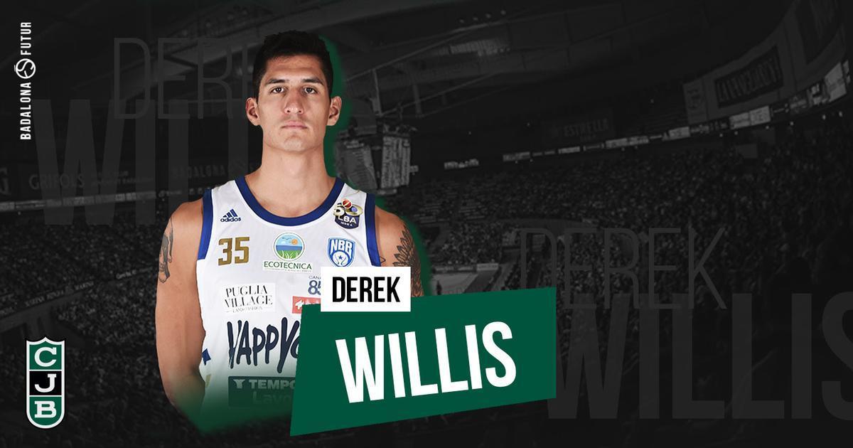 Derek Willis, nueva incorporación en Badalona