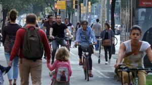 Una imagen de las calles de Barcelona.