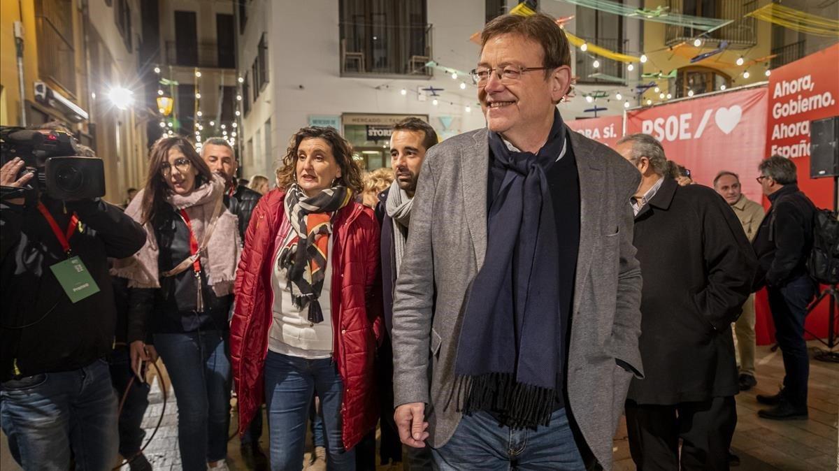 Ximo Puig, president de la Generalitat y secretario general del PSPV, tras revalidar este 10N su primera posición en la Comunitat Valenciana