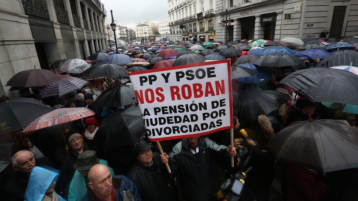 Concentración de pensionistas en Madrid, el pasado 1 de marzo.