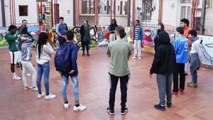 Actividad en una Escuela Abiertade Verano del proyecto ICIde la Fundación La Caixa.