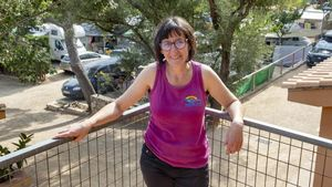 Montse Ferrer, en las instalaciones del camping Rifort de l'Estartit, el negocio familiar con origen en 1962.