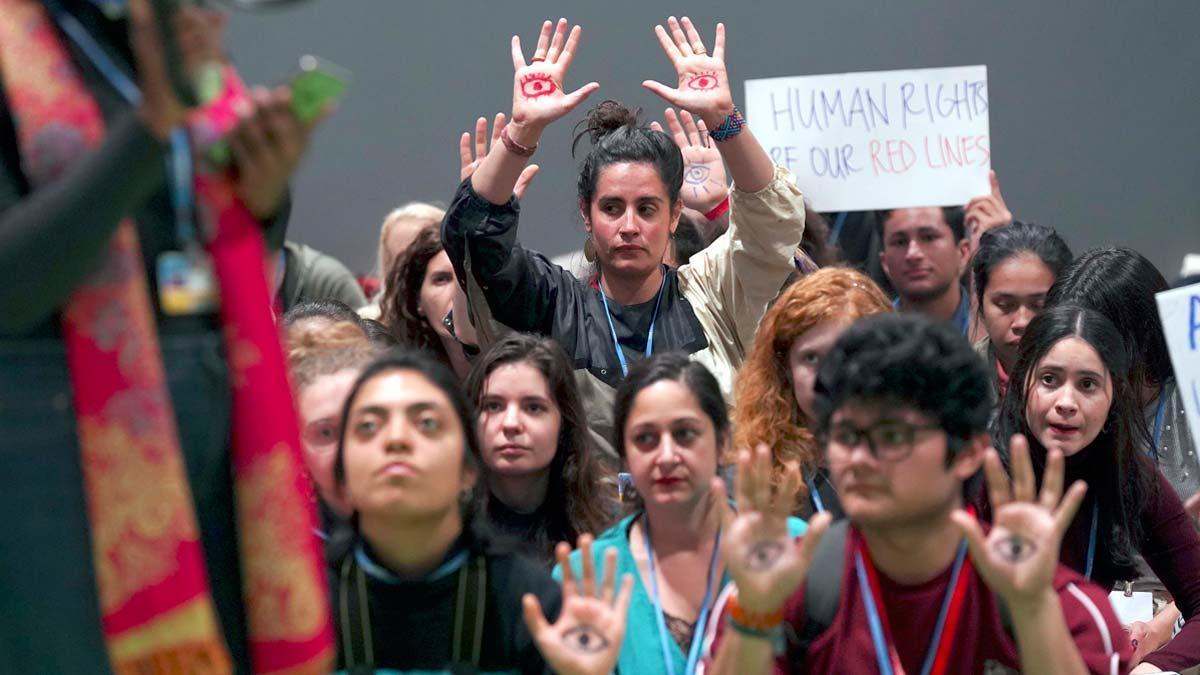 Acto de 'Fridays for future' en la COP25.