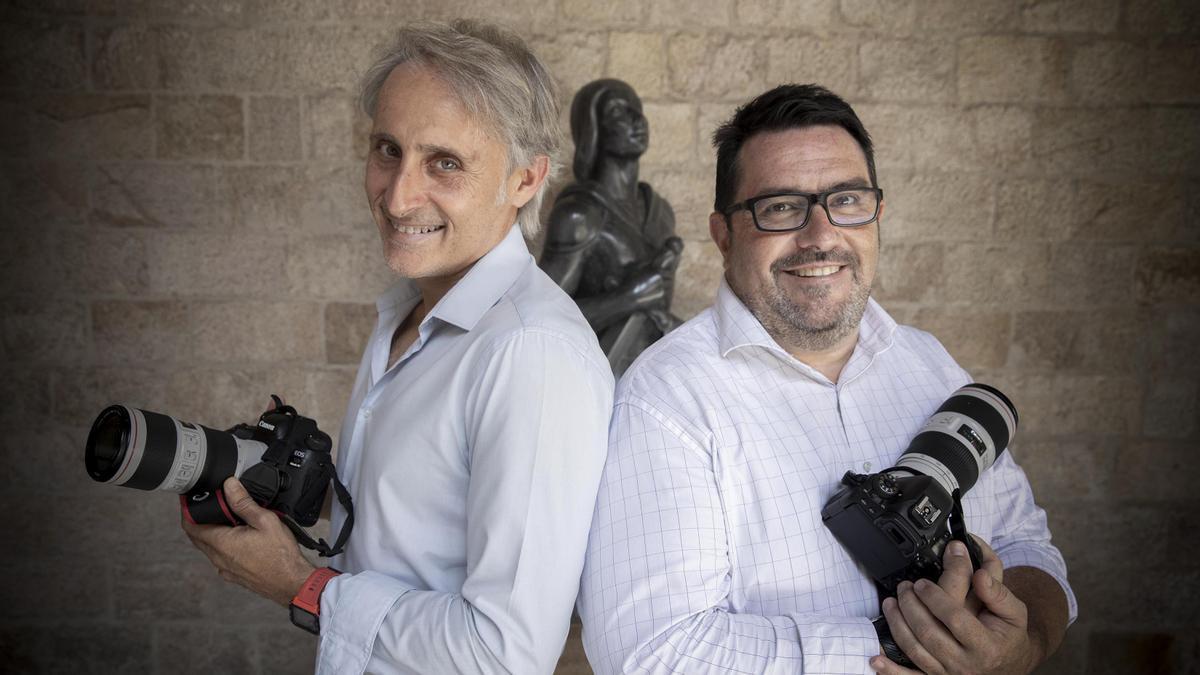 Jordi Bedmar y Rubén Moreno, fotógrafos oficiales del President de la Generalitat.