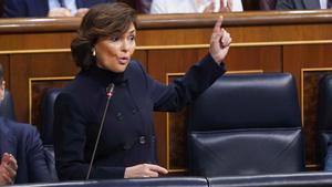 Carmen Calvo cree que es bastante lógico que Pablo Iglesias esté en la comisión del CNI.
