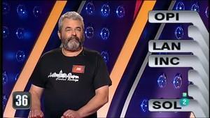 José Pinto en su último programa en 'Saber y Ganar'.
