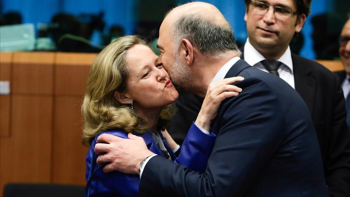 Calviño ve prematuro aclarar si vetarán el presupuesto de la Eurozona