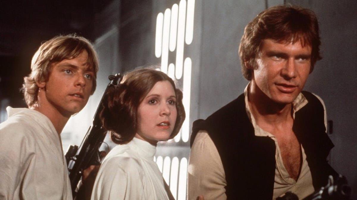 Una imagen de 'La guerra de las galaxias' (George Lucas, 1977).