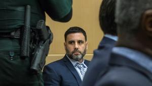 El ciudadano hispanoestadounidense Pablo Ibar, durante una audiencia en el Tribunal Estatal de Florida, que le juzga como presunto autor de un triple asesinato.