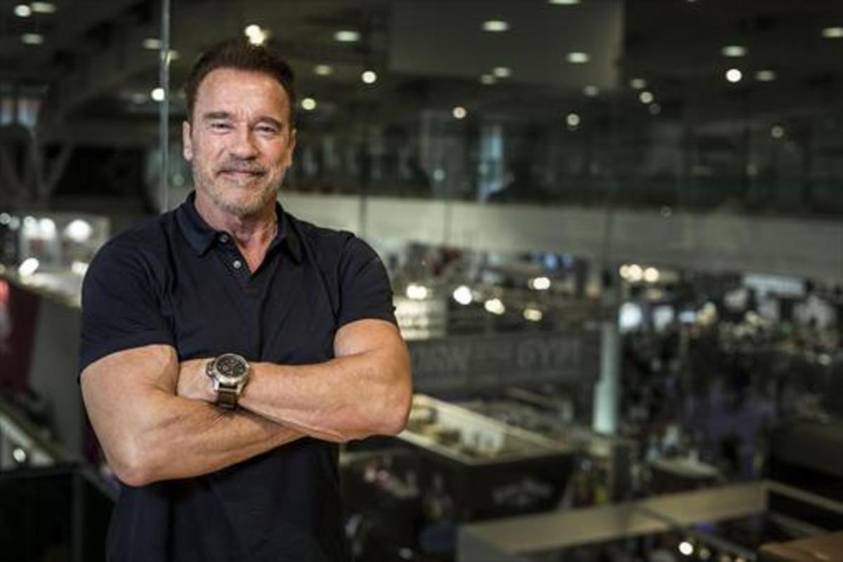 Arnold Schwarzenegger posa en el recinto de Fira de Barcelona, el pasado mes de noviembre.