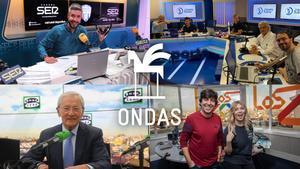 Algunos de los ganadores del Premios Ondas 2020 en la categoría de radio.