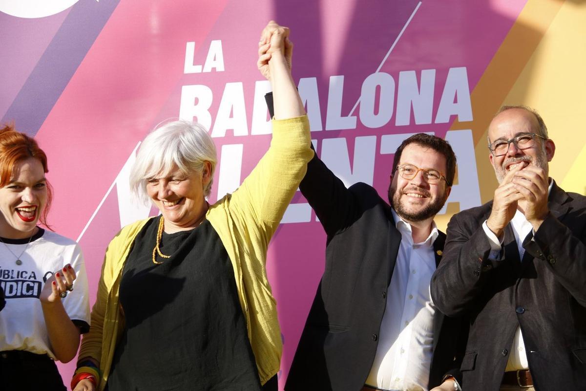 """Aragonès demana votar ERC a Badalona per """"sepultar el feixisme"""" de candidats com Albiol"""