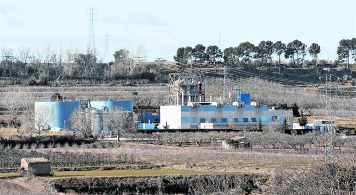 Tratamiento de purines 8 Instalaciones de cogeneración y secado de la planta Tracjusa de Juneda, en las Garrigues.