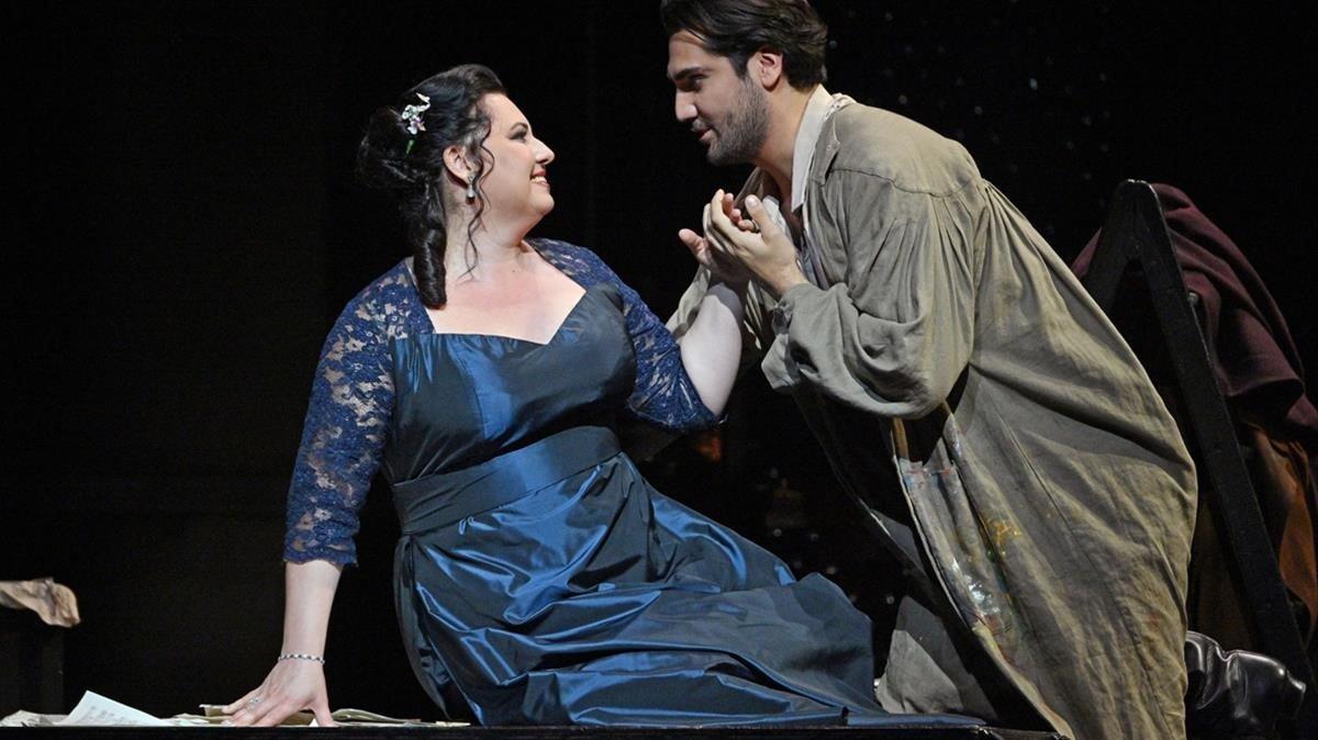 Liudmyla Monastyrska y Jonathan Tetelman, en 'Tosca'