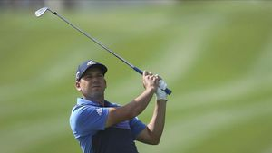 El golfista español Sergio García durante un torneo en Dubai.