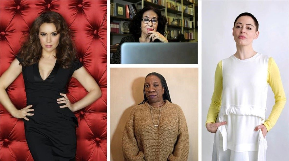 Alissa Milano, Lidia Falcón,Tarana Burke yRose McGowan.