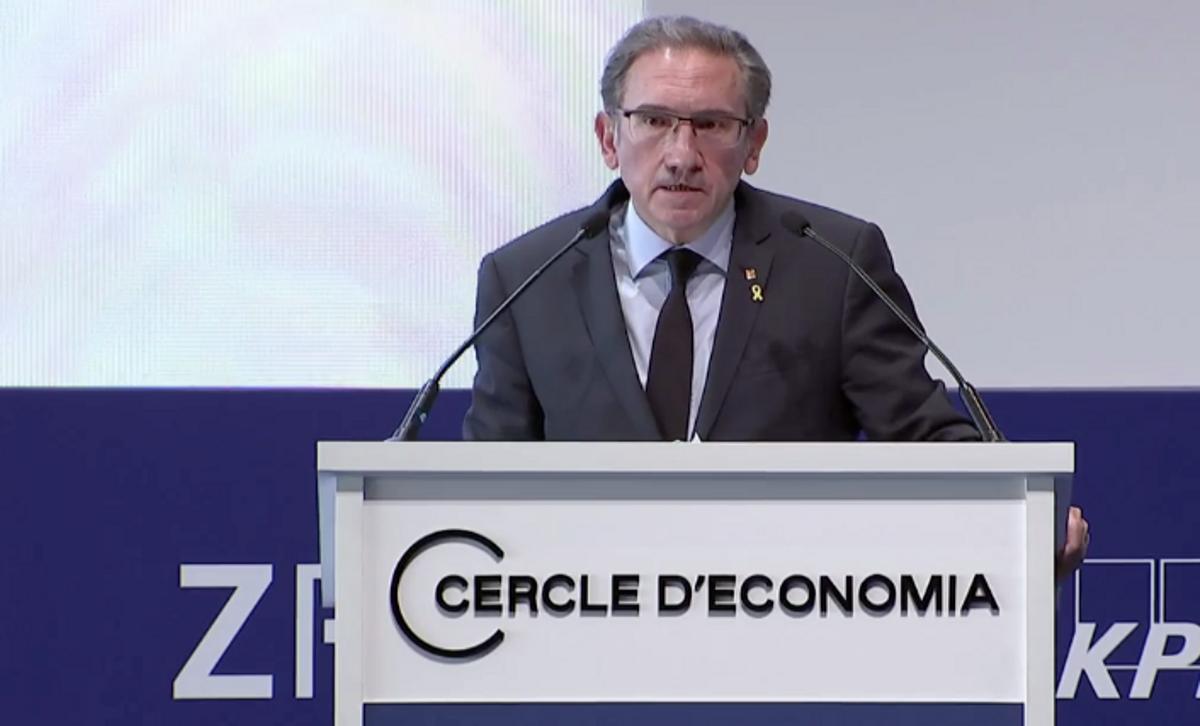Jaume Giró, 'conseller' de Economia, en el Cercle.