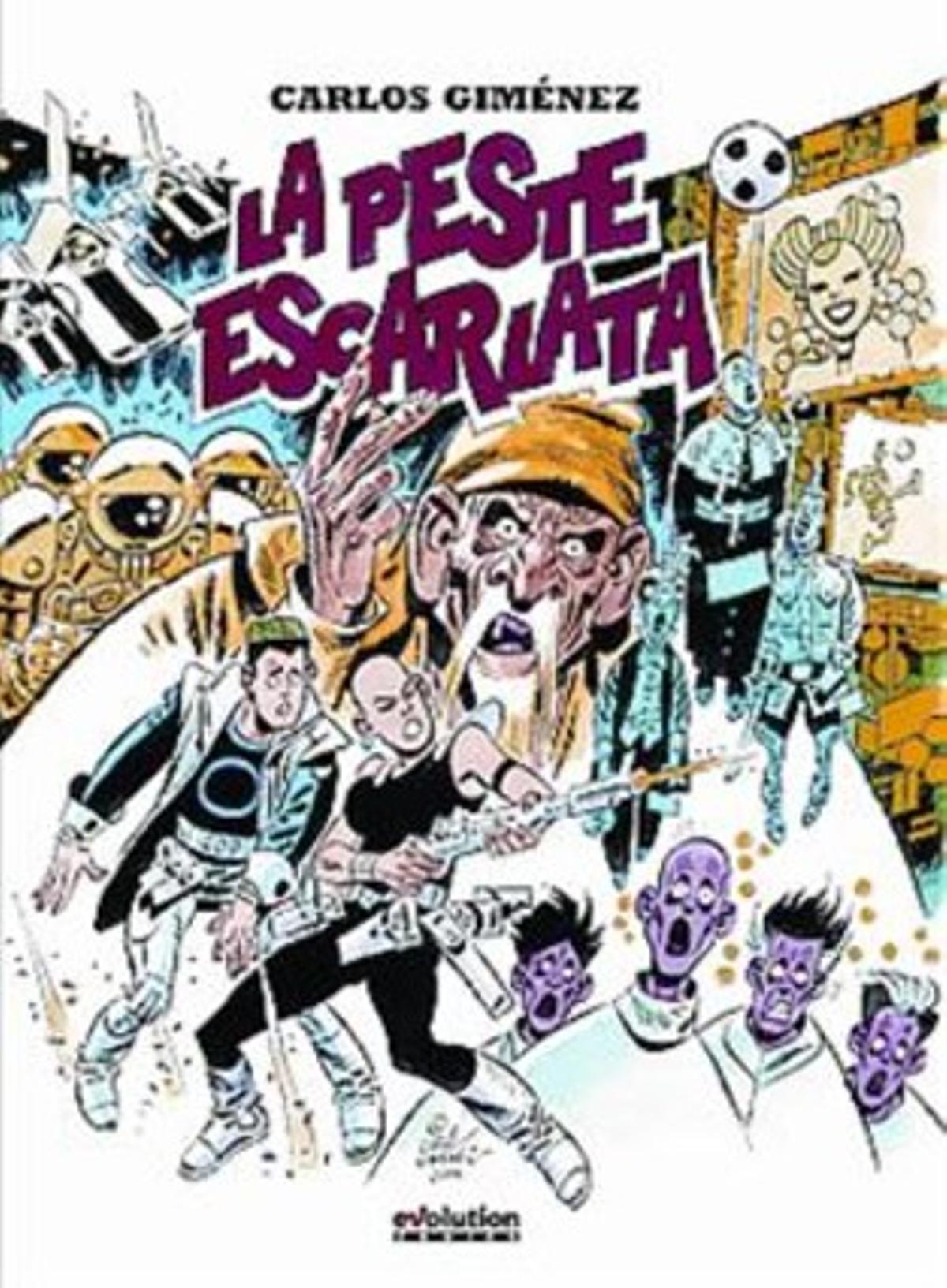 Cubiertas de 'La peste escarlata', de Carlos Giménez