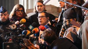 Jaume-Alonso Cuevillas, abogado de la defensa, en el Palacio de Justicia de Bruselas.