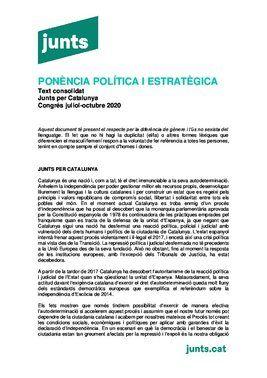 Ponencia política de Junts