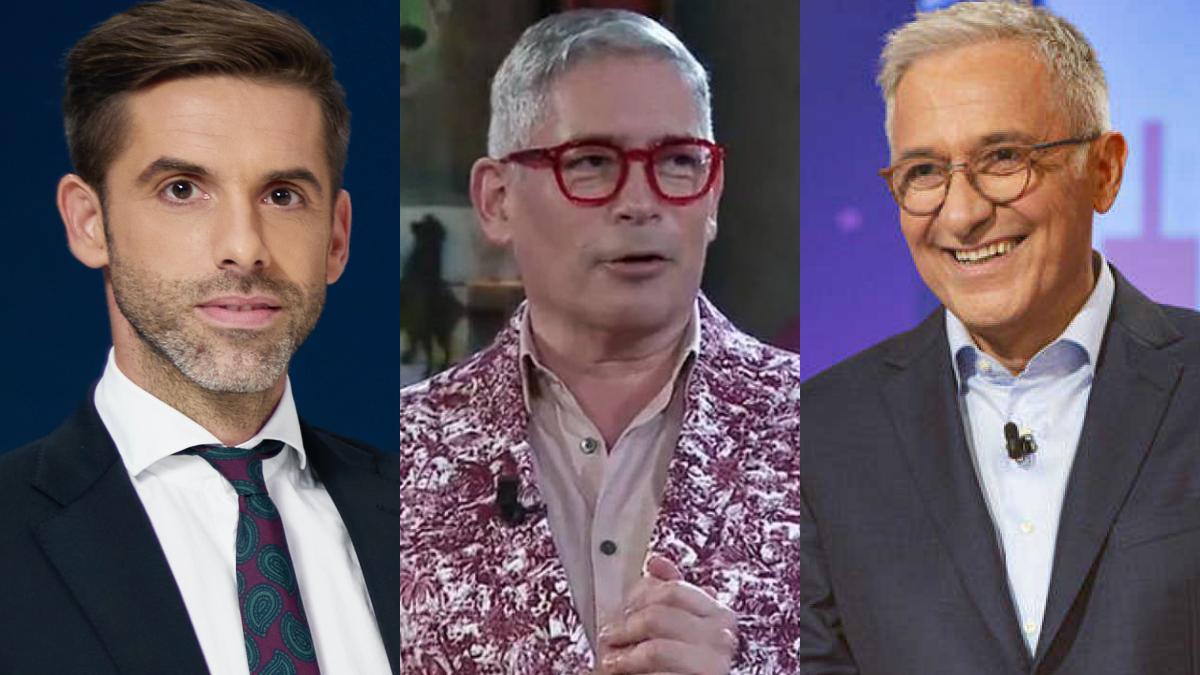 José Yélamo, presentador de 'laSexta noche'; Boris Izaguirre y Xavier Sardà
