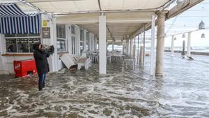 Inundaciones provocadas por el temporal en la costa de Málaga