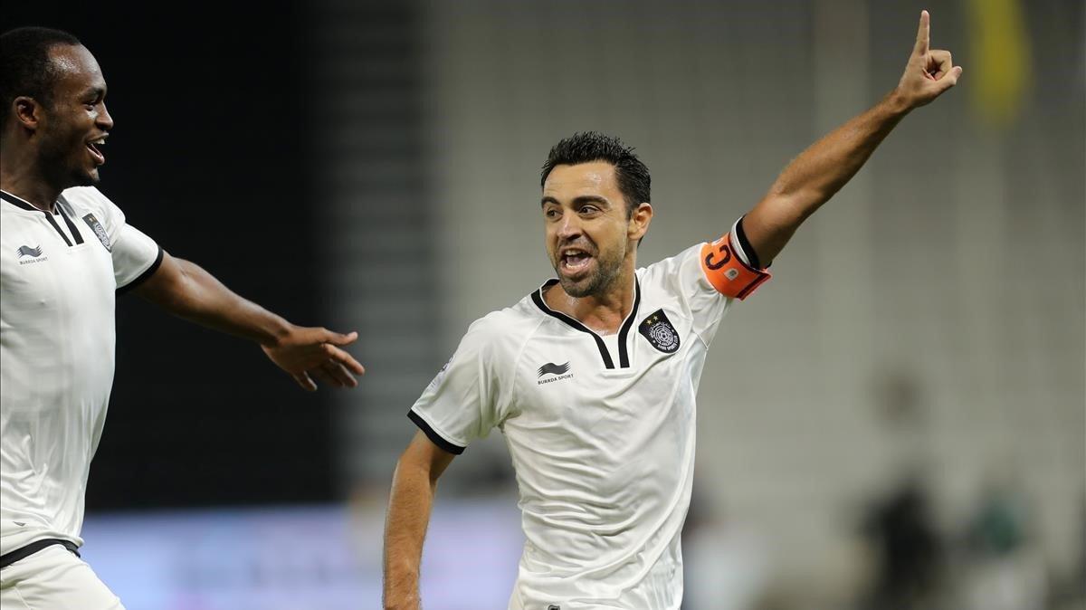 Xavi Hernández, en un partido con el Al-Sadd.