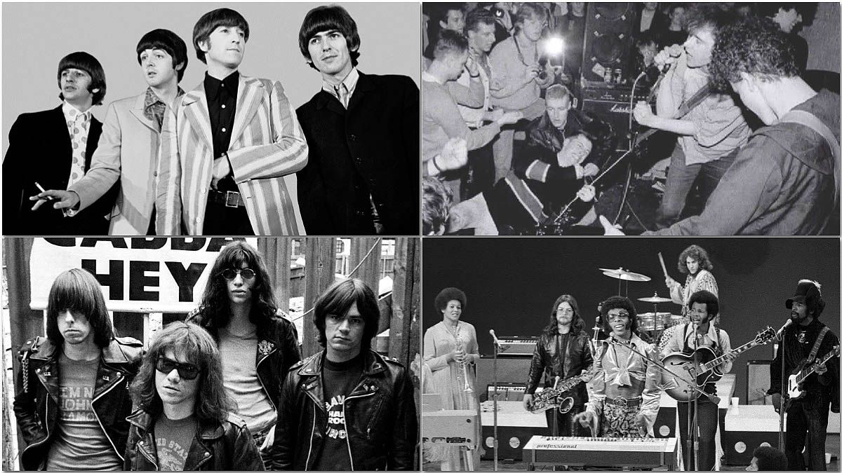 The Beatles, The Jesus and Mary Chain, The Ramones y Sly & The Family Stone.