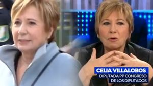"""Celia Villalobos, tras ser abucheada por un grupo feminista: """"Por su aspecto eran de Podemos"""""""