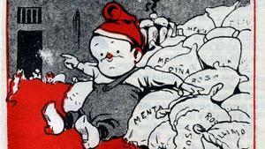 Detalle de la primera portada de 'En Patufet', del 3 de enero de 1904