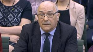 Mark Goldring, en su comparecencia ante la Cámara de los Comunes.
