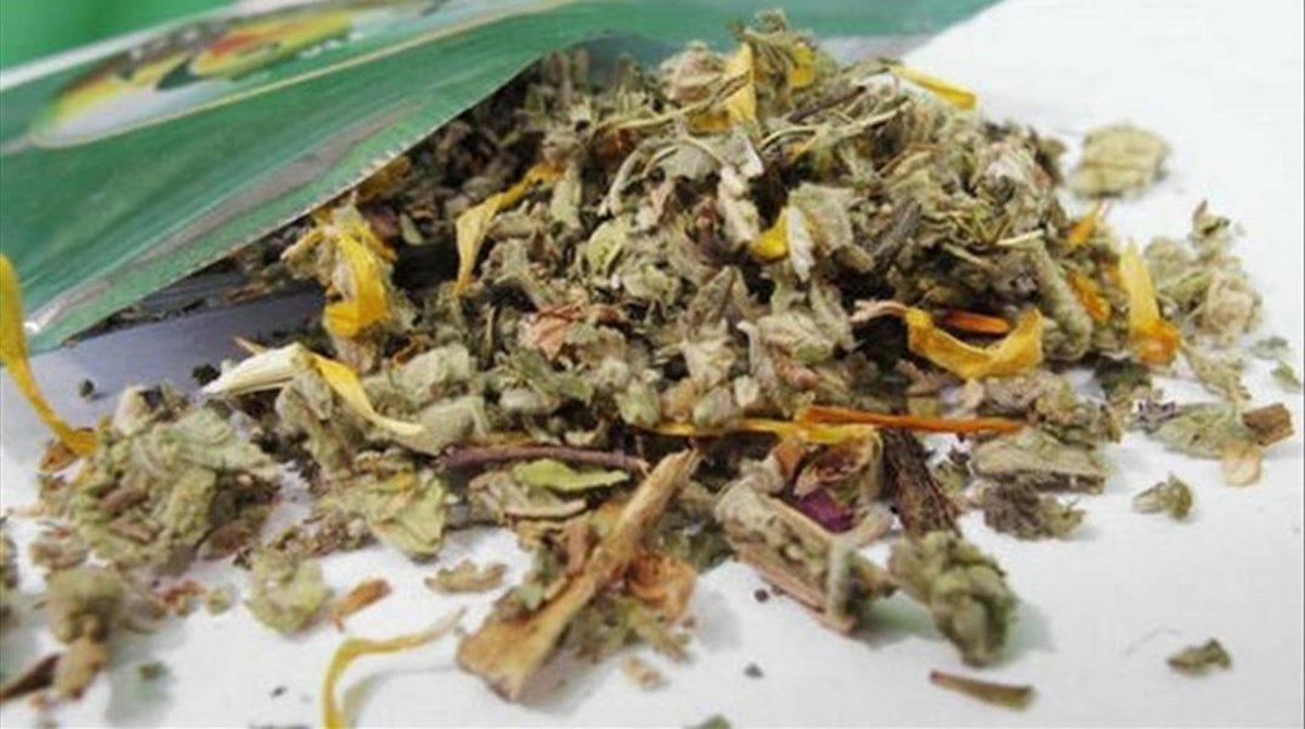 Una bolsita de marihuana.
