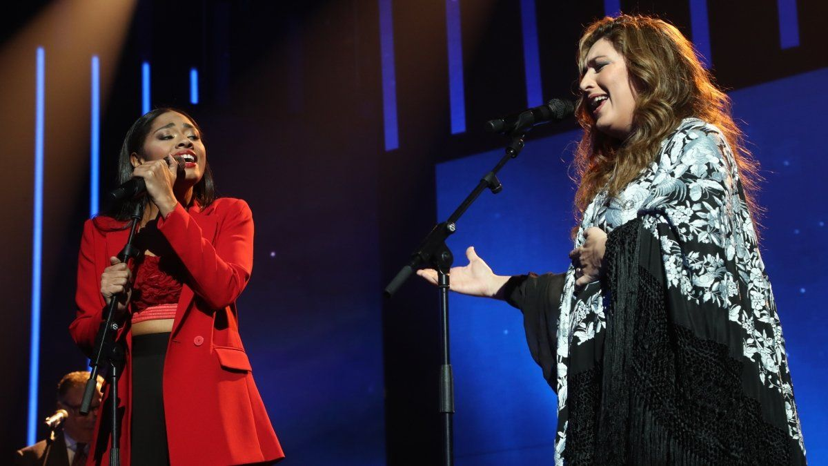 Nía y Estrella Morente en 'OT 2020'.