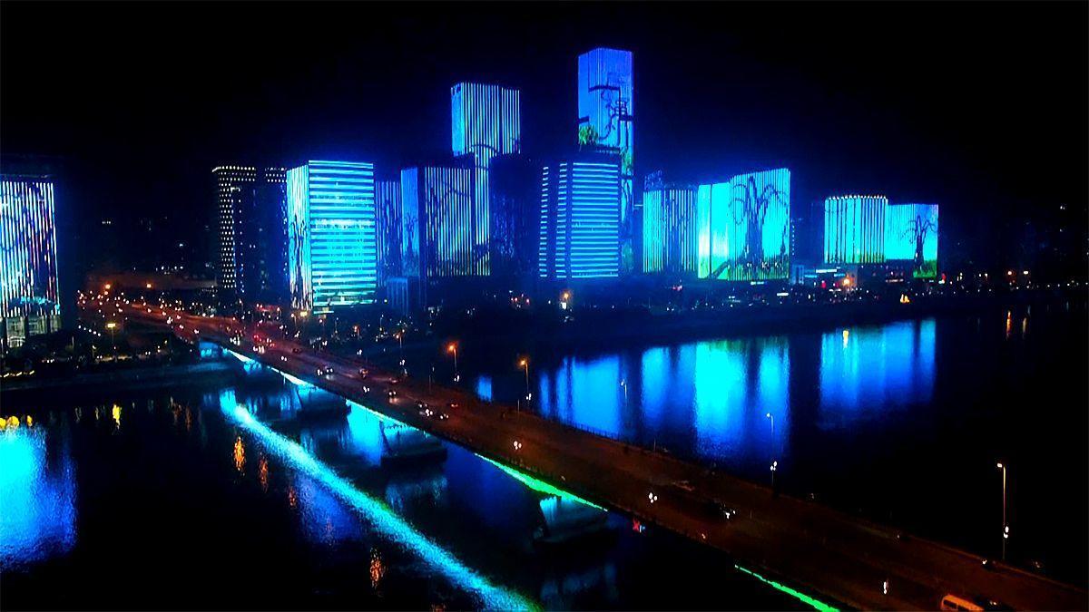 Las oníricas imágenes de las luces de año nuevo en China