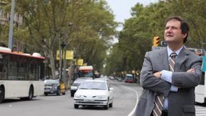 Jordi Hereu, en septiembre del 2008, en la Diagonal.