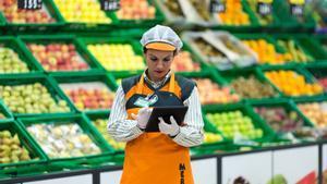 Una empleada de Mercadona.