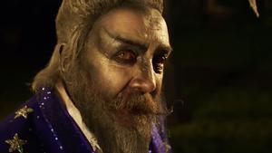 Alan Moore, en su papel en la película 'The show', con guion suyo.