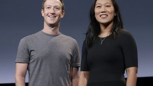 Mark Zuckerberg y su esposa, Priscilla Chan.