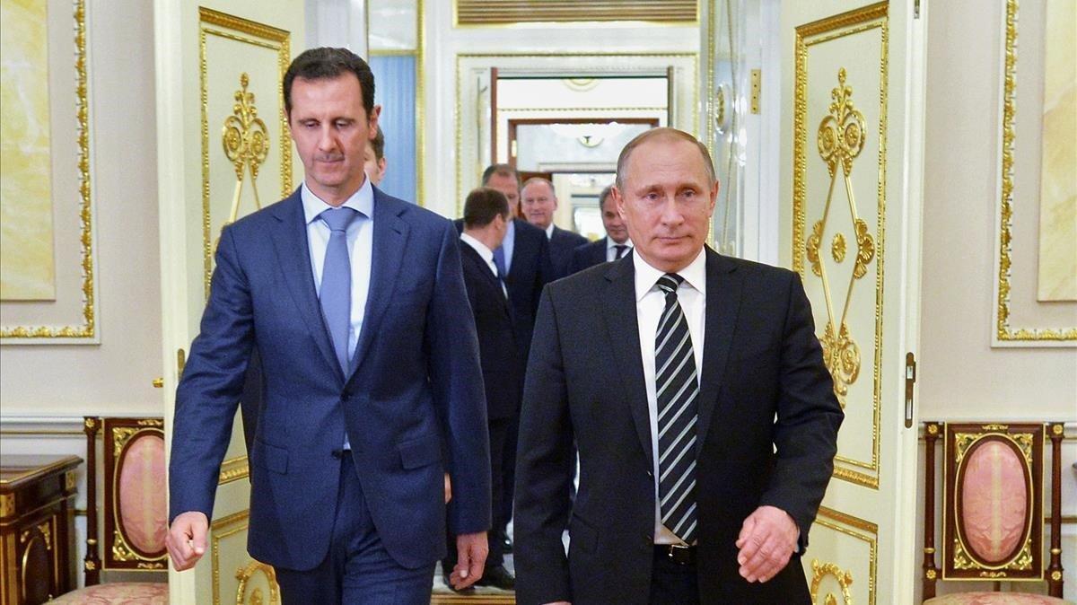 Bashar el Asad y Vladímir Putin, en una imagen de archivo.