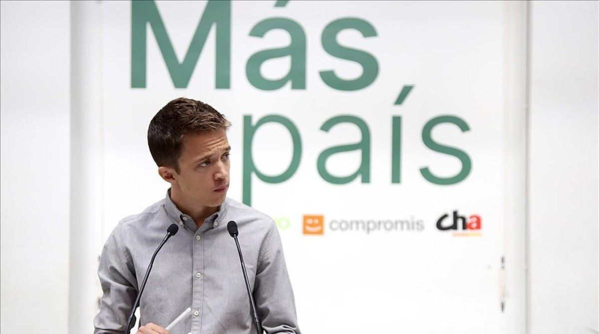 El candidato de Más País, Íñigo Errejón, en la presentación de los cabeza de lista de su partido