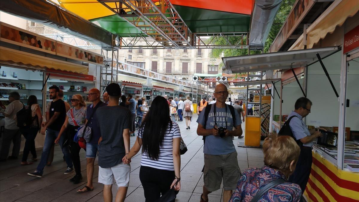 Expositores en la Setmana del Llibre en Català del pasado septiembre.