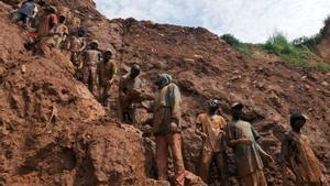 Mina de cobalto en Chudja, en el noreste del Congo.