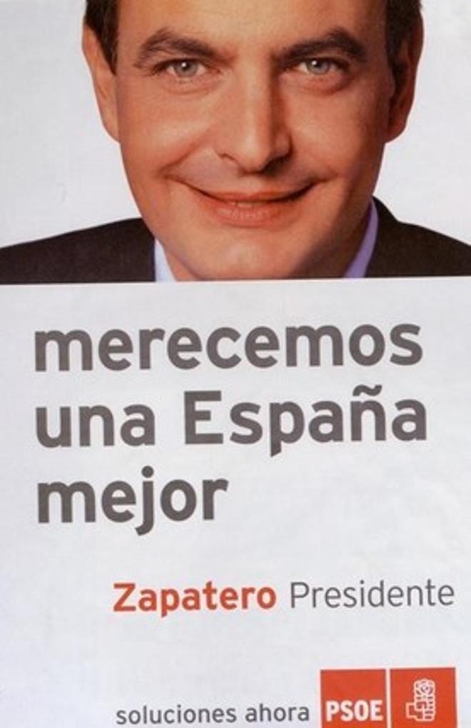 Cartell electoral del PSOE per a les eleccions generals del 2004.