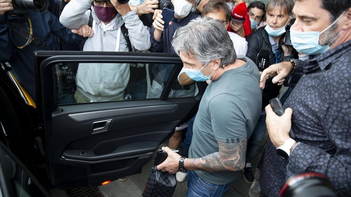 Jorge Messi, a su llegada ayer a Barcelona.