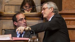 Trias afirma que a Vives lebuscan las cosquillas por todos lados.Antoni Vives y Xavier Trias, en una imagen de archivo.