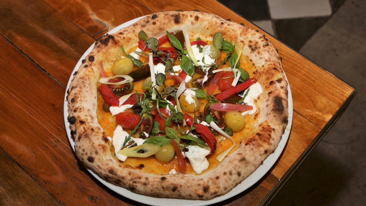Pizza Jerry Tomato de Can Pizza, ganadora en la categoría de estilo libre del primer Concurso Nacional de Pizzas.