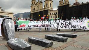 Protestas sociales en Colombia.
